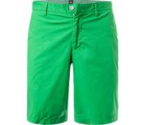 Hose Shorts, Regular Fit, Baumwolle, gras