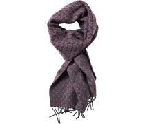 Schal, Kaschmir-Wolle, grau-bordeaux gemustert