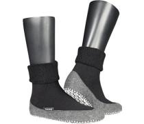 Serie Cosyshoes, Hausschuhe, Merinowolle, schwarz