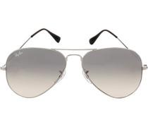 Herren Brillen Sonnenbrille Aviator Metall grau