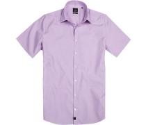 Hemd, Slim fit, Baumwolle, flieder-weiß gepunktet