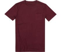 T-Shirt, Shaped Fit, Baumwolle, bordeaux
