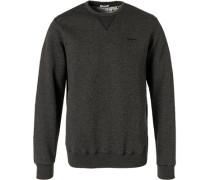 Sweatshirt, Regular Fit, Baumwolle, graphit