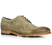 Schuhe Budapester, Veloursleder, cuoio