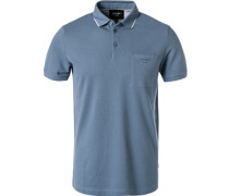 Polo-Shirt, Modern Fit, Baumwoll-Piqué, rauch