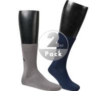 Socken, Baumwolle, grau-navy