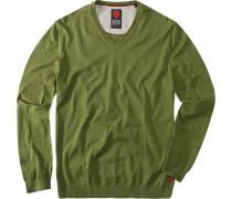 Pullover, Baumwolle, oliv