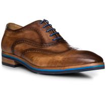 Schuhe Oxford, Leder, marrone