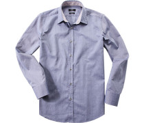 Hemd, Regular Fit, Oxford, -weiß meliert