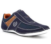 Schuhe Slipper, Kunstleder-Textil, dunkel