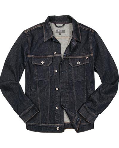 Jeansjacke, Baumwolle, dunkel meliert