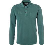 Polo-Shirt, Baumwoll-Piqué, smaragd