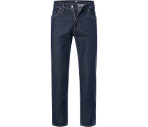 Jeans, Regular Fit, Baumwoll-Stretch, dunkel