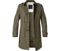 Mantel Trenchcoat, Baumwolle, dunkel