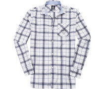 Hemd, Baumwolle, weiß- kariert