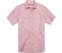 Kurzarmhemd, Classic Fit, Popeline,  gemustert