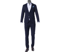 Anzug, Extra Slim Fit, Mikrofaser, nacht