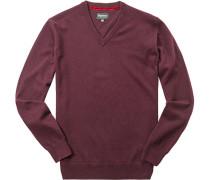 Pullover, Kaschmir-Wolle, bordeaux