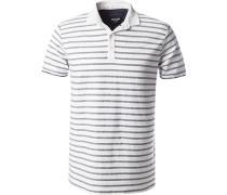 Polo-Shirt, Baumwoll-Jersey, -grau gestreift
