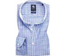 Hemd, Slim Fit, Baumwolle, -weiß gestreift