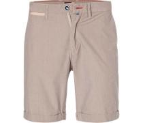 Hose Shorts, Regular Fit, Baumwolle,  gestreift