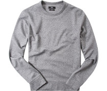 Pullover, Slim Fit, Baumwolle,  meliert