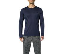 Pyjama-Shirt, Modal, navy