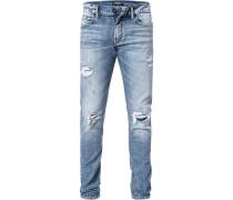 Jeans, Regular Fit, Baumwolle, denim