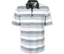 Polo-Shirt, Mikrofaser, weiß- gestreift