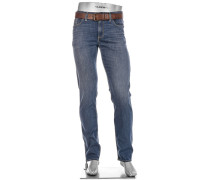 Jeans Pipe, Regular Slim Fit, Baumwolle, jeans