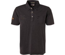 Polo-Shirt, Baumwoll-Piqué, anthrazit