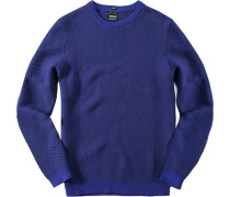 Pullover, Slim Fit, Baumwolle, dunkel