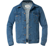 Jeansjacke, Regular Fit, Baumwolle, hell