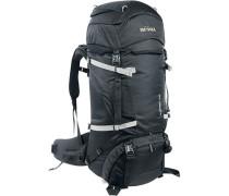 Trekking-Rucksack, Mikrofaser, schwarz