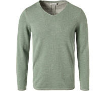 Pullover, Baumwolle, mint