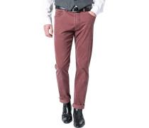 Jeans, Regular Fit, Baumwoll-Stretch, rot