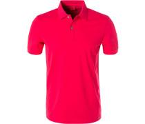 Polo-Shirt, Body Fit, Baumwoll-Piqué, granat