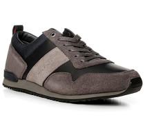 Schuhe Sneaker, Leder-Textil, grau-