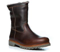 Schuhe Stiefel, Leder warm gefüttert, kastanien