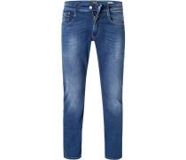 Jeans Anbass, Slim Fit, Baumwoll-Stretch, mittel