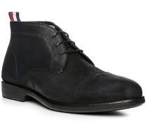 Schuhe Schnürstiefeletten, Veloursleder, navy