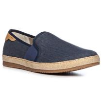 Schuhe Espadrilles, Canvas-Leder, navy