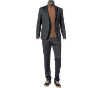 Anzug, Slim Fit, Jersey, anthrazit meliert