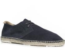 Schuhe Espadrilles, Veloursleder, navy