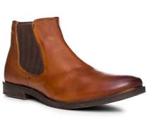 Schuhe Chelsea-Boots, Leder, cognac