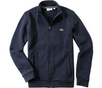 Sweatjacke, Baumwoll-Mix, navy