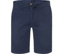 Hose Shorts, Regular Fit, Baumwolle, marine