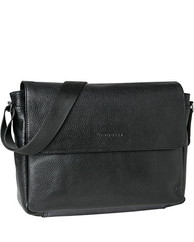 Bugatti Herren Messenger Bag, Leder