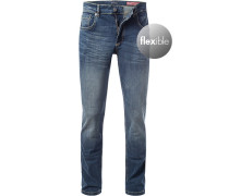 Jeans, Shape Fit, Baumwoll-Stretch, dunkel