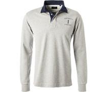 Rugby-Shirt, Classic Fit, Baumwolle, -marineblau